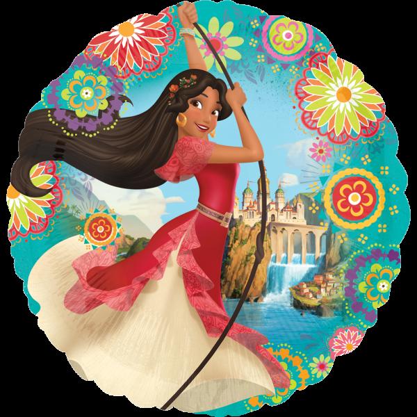Globo Metalico Princesa Elena Castillo Magico de Cumpleaños, 18 Pulgadas en Forma de Circulo, Marca Anagram