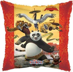 Globo Metalico Kung Fu Panda Ninja de Cumpleaños, 18 Pulgadas en Forma de Cuadrado, Marca Kaleidoscope