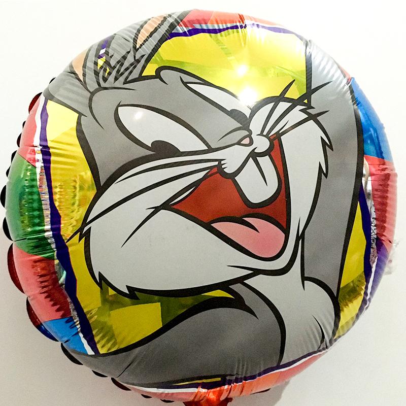 Globo Metalico Bugs Bunny de Cumpleaños, 18 Pulgadas en Forma de Circulo, Marca Anagram