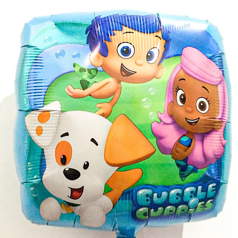Globo Metalico Bubble Cuppies Magia Marina de Cumpleaños, 18 Pulgadas en Forma de Cuadrado, Marca Anagram