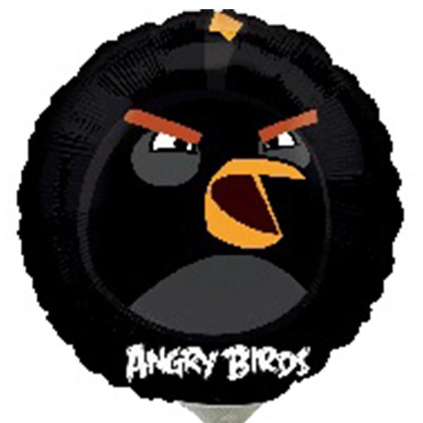 Globo Metalico Angry Birds de Cumpleaños, 09 Pulgadas en Forma de Circulo, Marca Anagram