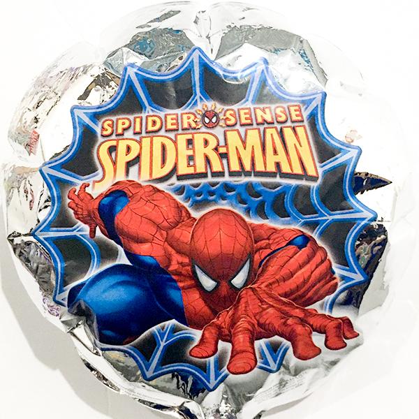 Globo Metalico Spider Man al Ataque de Cumpleaños, 09 Pulgadas en Forma de Circulo, Marca Kaleidoscope