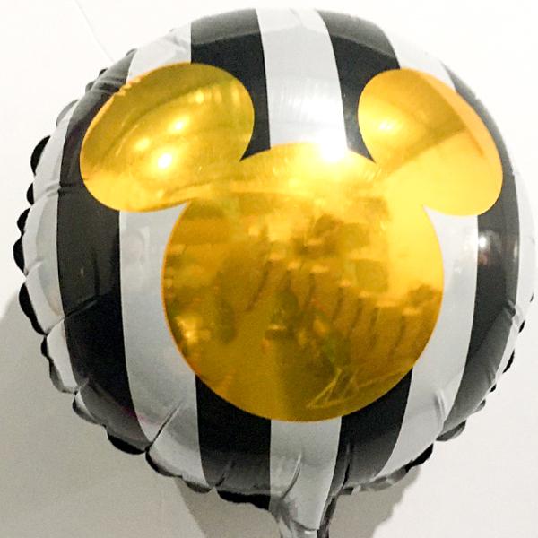 Globo Metalico Mickey Mouse de Cumpleaños, 09 Pulgadas en Forma de Circulo, Marca Anagram