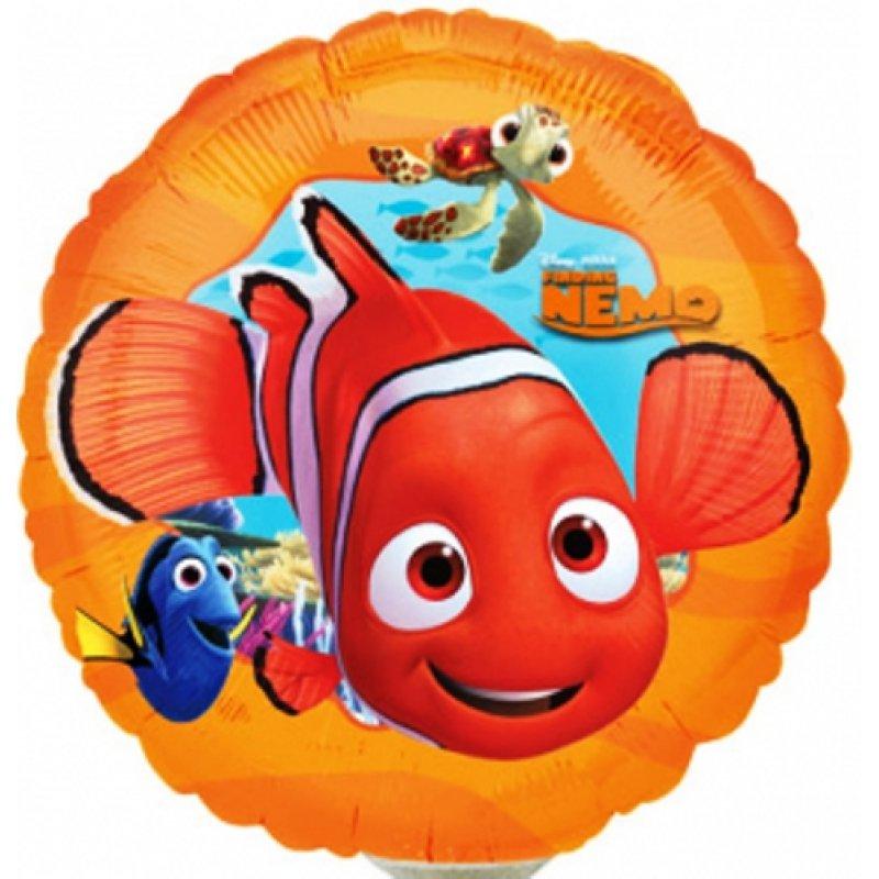 Globo Metalico Buscando a Nemo Magia Marina de Cumpleaños, 09 Pulgadas en Forma de Circulo, Marca Anagram
