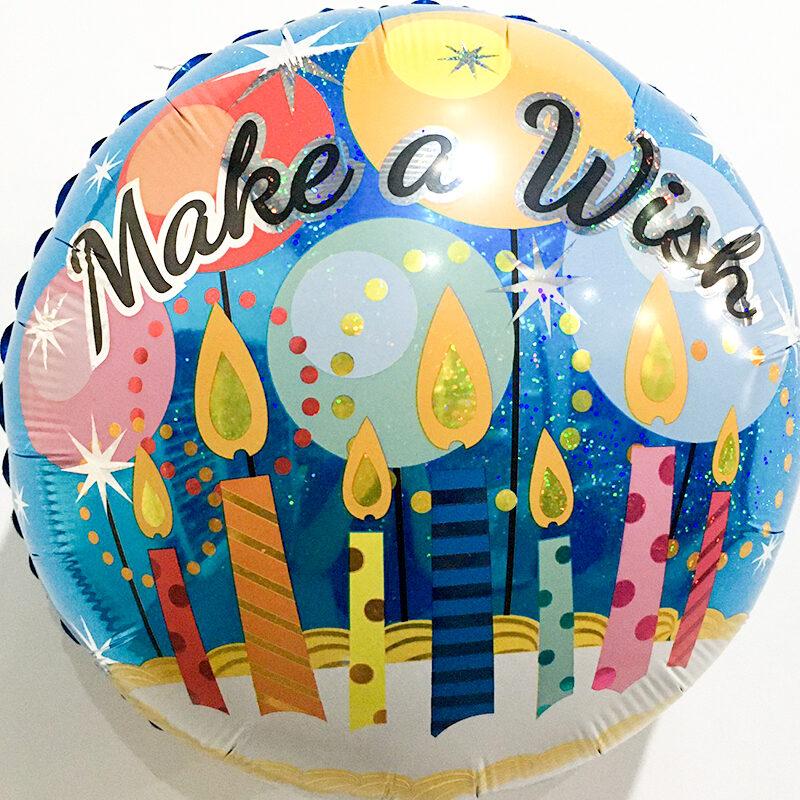 Globo Metalico Happy Birthday Magia Destellos y Velas de Cumplea?os, 18 Pulgadas en Forma de Cuadrado, Marca Kaleidoscope