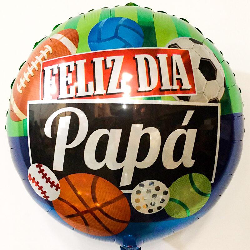 Globo Metalico Feliz Dia Papa de Papa, 18 Pulgadas en Forma de Circulo, Marca Kaleidoscope