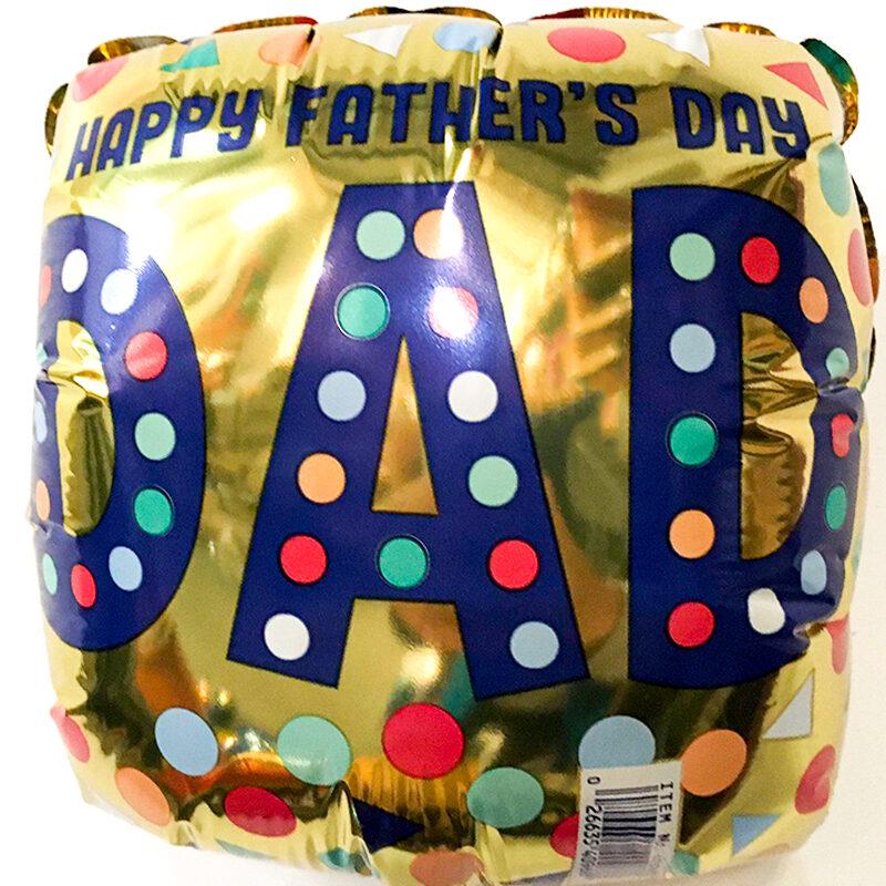 Globo Metalico Happy Fathers Day Dad LLuvia Magica, 09 Pulgadas en Forma de Cuadrado, Marca Anagram
