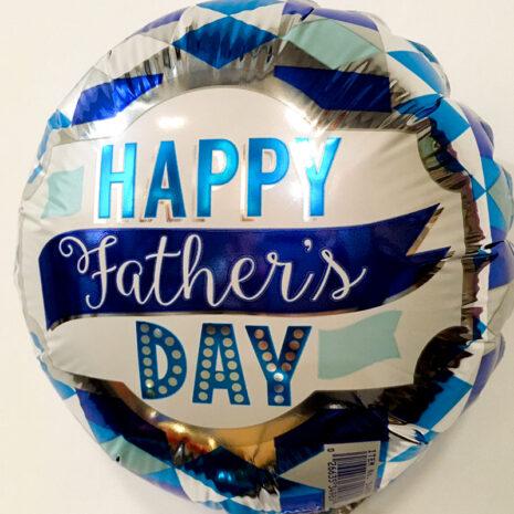 Globo Metalico Happy Fathers Day de Papa, 09 Pulgadas en Forma de Circulo, Marca Anagram