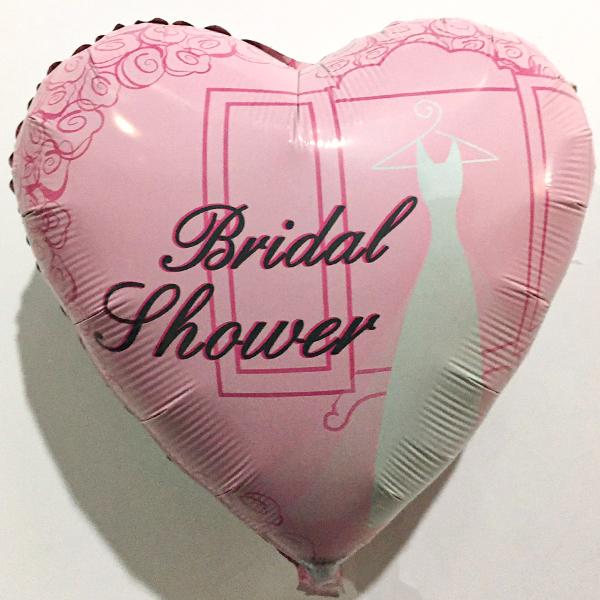 Globo Metalico Bridal Shower Rosa de Otros Mensajes, 18 Pulgadas en Forma de Corazon, Marca Anagram