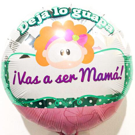 Globo Metalico Deja Lo Guapa Vas a Ser Mama de Baby Shower, 18 Pulgadas en Forma de Circulo, Marca Kaleidoscope