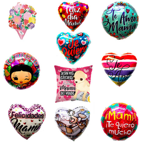 Paquete de Mama #2, Medida 18 Pulgadas, Contenido 100 Piezas, 10 Modelos Diferentes, Marca Anagram y Kaleidoscope