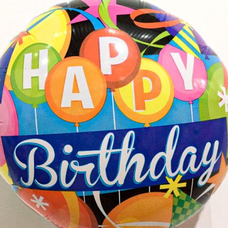 Globo Metalico Happy Birthday Globos de Cumpleaños, 09 Pulgadas en Forma de Circulo, Marca Kaleidocope