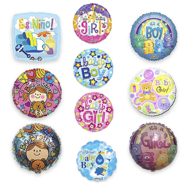 Paquete de Baby Shower #1, Medida 18 Pulgadas, Contenido 100 Piezas, 10 Modelos Diferentes, Marca Anagram y Kaleidoscope