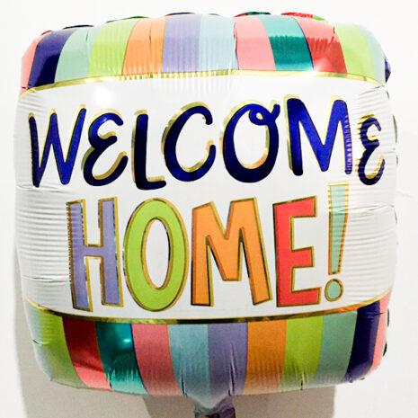 Globo Metalico Welcome Home Colores de Otros Mensajes, 18 Pulgadas en Forma de Cuadrado, Marca Anagram