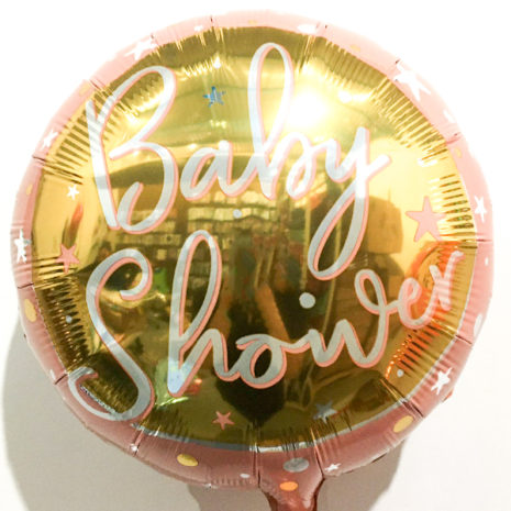 Globo Metalico Magia Dorado Rose Gold de Baby Shower, 18 Pulgadas en Forma de Circulo, Marca Kaleidoscope
