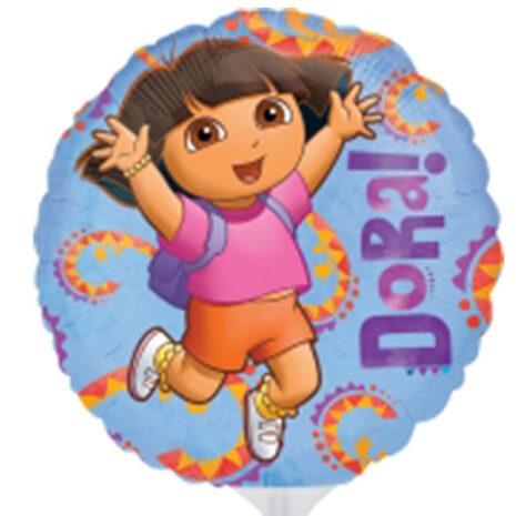 Globo Metalico Dora Felicidad de Cumpleaños, 09 Pulgadas en Forma de Circulo, Marca Anagram