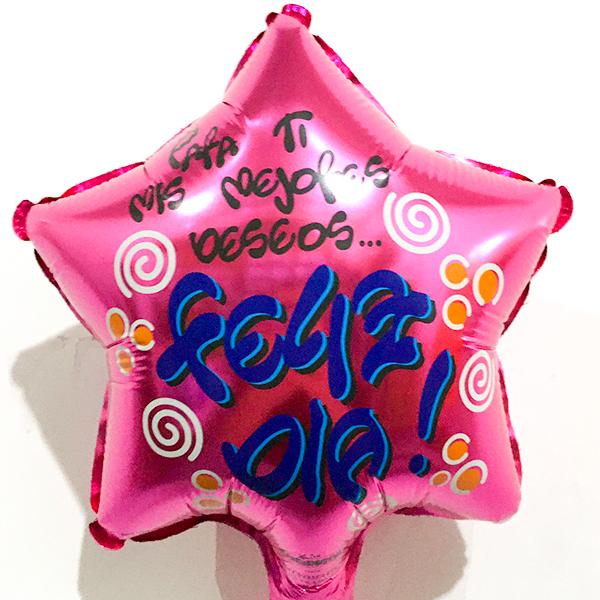 Globo Metalico Para Ti Mis Mejores Deseos Feliz Dia de Cumpleaños, 09 Pulgadas en Forma de Estrella, Marca Kaleidoscope