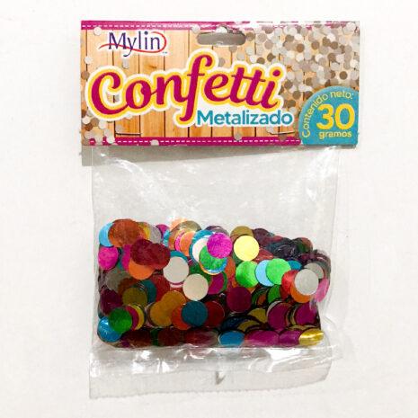 Confetti Metalizado, Medida 1 cm, Contenido 30 gr, Marca Mylin