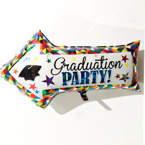 Globo Metalico Graduation Party de Graduacion, 18 Pulgadas en Forma de Flecha, Marca Anagram