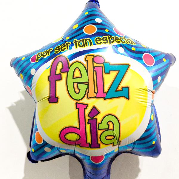 Globo Metalico Por Ser Tan Especial Feliz Dia de Cumpleaños, 09 Pulgadas en Forma de Estrella, Marca Anagram
