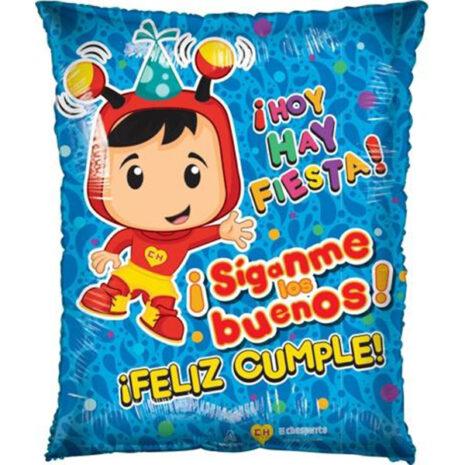 Globo Metalico Hoy es la Fiesta Chespirito Animado de Cumpleaños, 20 Pulgadas en Forma de Rectangulo, Marca Anagram
