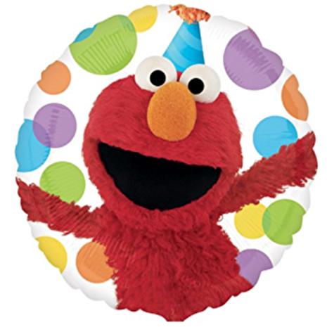 Globo Metalico Elmo Festejando de Cumpleaños, 18 Pulgadas en Forma de Circulo, Marca Anagram
