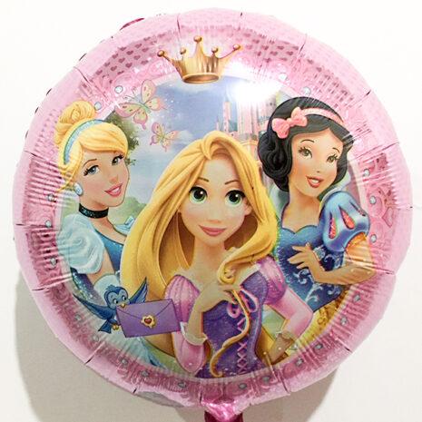 Globo Metalico Princesas Rapunzel y sus Amigas de Cumpleaños, 18 Pulgadas en Forma de Circulo, Marca Kaleidoscope
