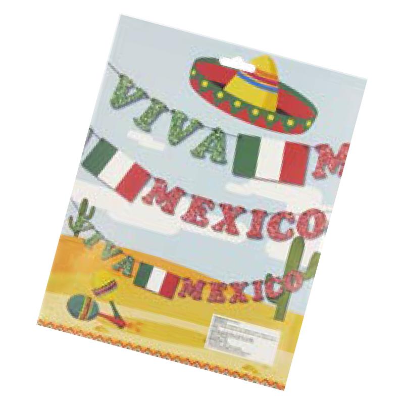 Letrero Colgante Viva Mexico Diamantado