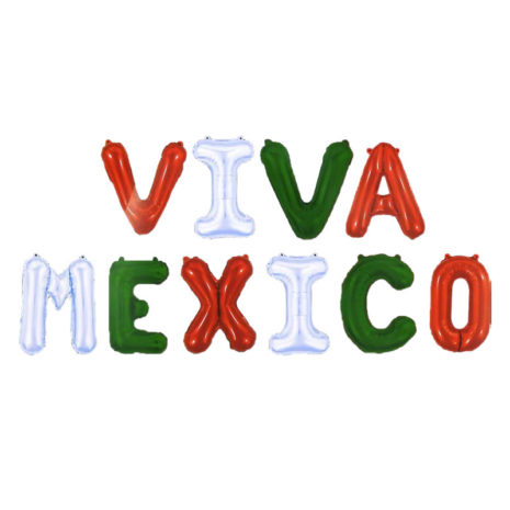 Letrero Globo Viva Mexico