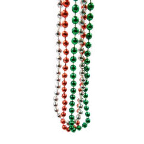 Collar Perla Tricolor c/12 Piezas